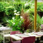 la terrasse du restaurant le jardin