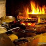 Cuisson à la cheminée au restaurant