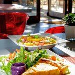 Tarte et salade