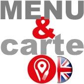menu en anglais