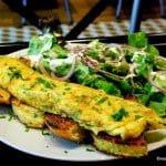 Omelette au restaurant