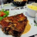T-bone au restaurant