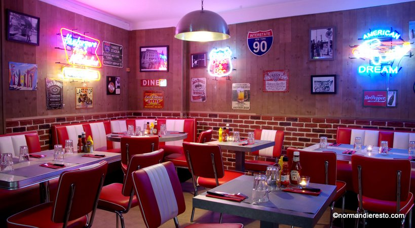 le fifty 39 s american diner au havre restaurant burger. Black Bedroom Furniture Sets. Home Design Ideas