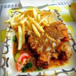 Côte de porc et frites