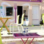 La terrasse du restaurant le mêle anges
