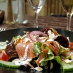 Salade crevettes saumon