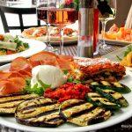Légumes grillés et jambon de parme