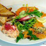 assiette de saumon fumé
