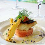 Cabillaud et saumon au restaurant le Belvédère à St Jouin Bruneval