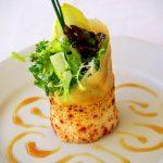 Croquant de salade au restaurant en Normandie