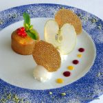 Dessert coulant au caramel en Normandie au Pays de caux