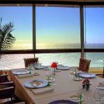 restaurant vue mer et couché de soleil en Normandie
