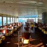 La salle du restaurant vue mer, à Le Havre