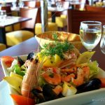 Salade de crevettes, au restaurant le Clapotis Le Havre