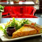 Tarte au potimarron à l'orangeraie restaurant des jardins suspendu du Havre.