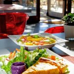 Tarte et salade aux jardins suspendus au Havre