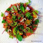 Le Filet de Canard de Rouen en tartare, fleurs et herbes du Jardin