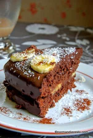 Gâteau chocolat banane au Restaurant Végétalien au Havre