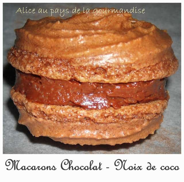 recette du macaron chocolat coco normandie resto. Black Bedroom Furniture Sets. Home Design Ideas