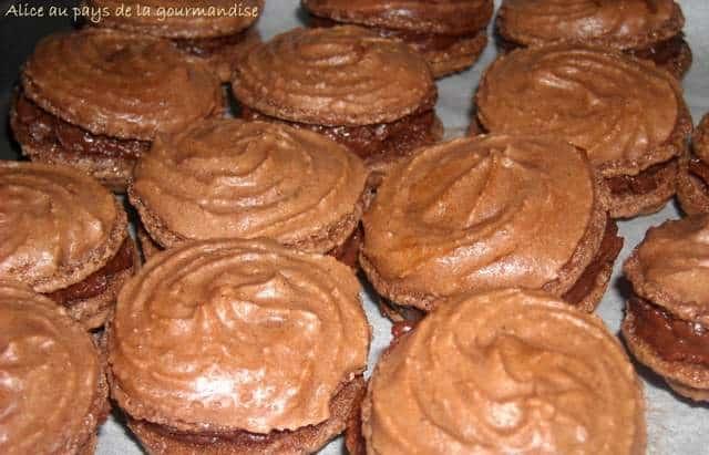 Macaron ganache Chocolat Recette