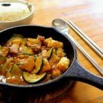 Calamars sautés coréens au restaurant Kimchi au Havre