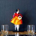 Poupée coréenne au restaurant coréen Kimchi au Havre