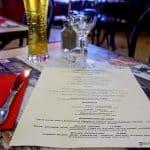 Le menu du jour au déjeuner du Funiculaire au Havre
