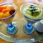 yaourt thé vert un dessert au restaurant coréen Kimchi au Havre