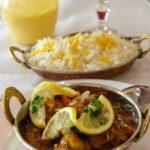 Crevettes Shahi Korma : curry de crevettes au Havre au Plais de l'Inde.