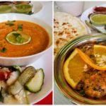 Soupe Lentilles et poulet au restaurant indien au Havre