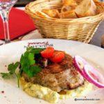 Tête de veau grillée sauce gribiche au restaurant au Havre