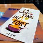 Le menu de la cantine du fort de tourneville