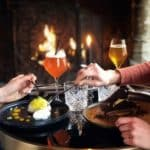 Assiettes de douceurs à Honfleur restaurant le Tourbillon