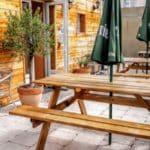 La terrasse du restaurant Saveurs Franco Portugaises au Havre