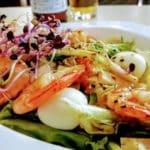 Salade d'été coréenne, crevettes oeufs de cailles au Havre