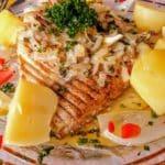Aile de raie beurre persillé au restaurant La marmite du pêcheur Le Havre.