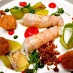 Langoustines nacrée au restaurant la Tablée au Havre