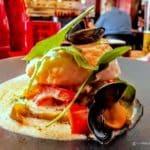Cabillaud en paella au restaurant Juste à Coté à St Romain