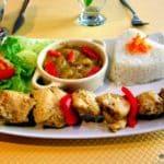 Restaurant Africain au Havre Les Lions , Brochettes de poulet sauce Yassa