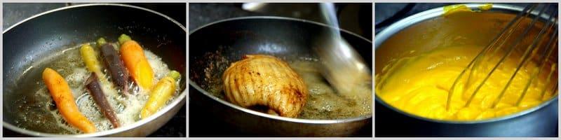 La préparation de l'Aile de raie rôtie au restaurant la Tablée au Havre