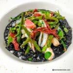 Le noir risotto, terre et mer
