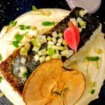Cabillaud, purée de panais, au restaurant la Petite Brasserie au Havre