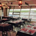 Restaurant de l'aéroport du Havre Octeville et sa vue sur les piste