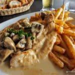 Escalope à la normande au restaurant de l'Aéroport du Havre Octeville