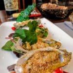 Huîtres chaudes en cressonnette. au restaurant Normand à Yport