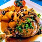 Cuisse de canard confite et pommes de terre Restaurant Le Havre