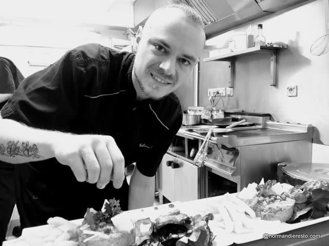 Guillaume Crevel chef à la Petite Brasserie au Havre