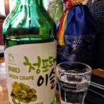 Jinro green grape au restaurant coréen Kimchi au Havre