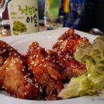 Ailes de poulet frites à la sauce sucrée épicée au restaurant Kimchi au Havre