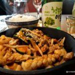 Calamars sautés avec poitrine de porc à la coréenne au Kimchi au Havre